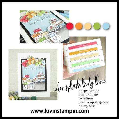 Color Inspiration for card making. Color Splash 33