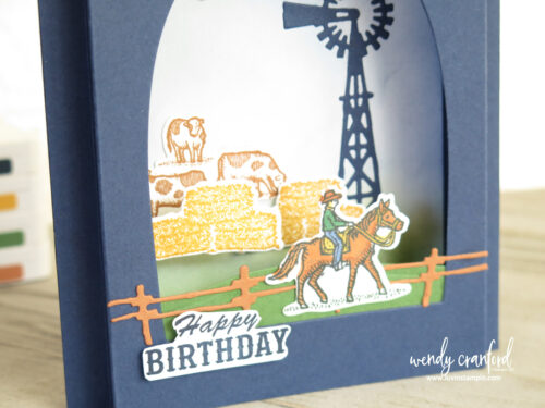 Handmade pop up window card with Ride The Range Bundle from Stampin' UP!