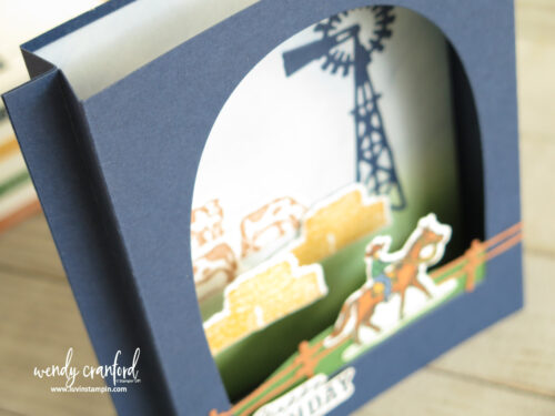 Die cut window cards using Ride the Range bundle