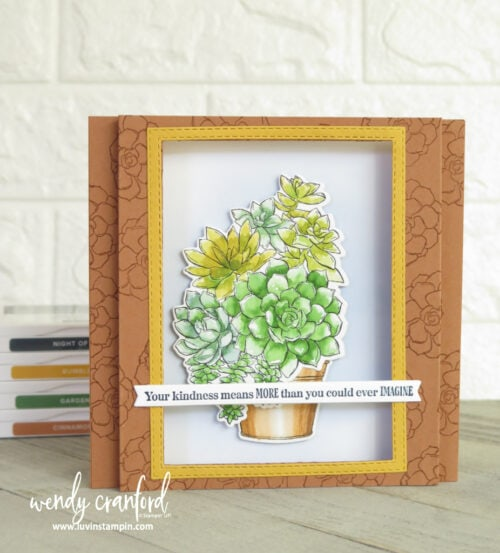 Simply Succulent bundle is a beautiful set for watercoloring.