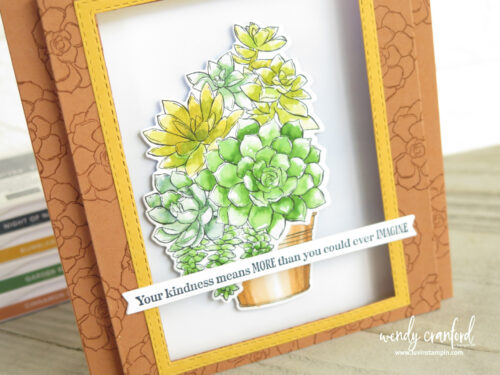 Pop up window card using the Simply Succulent bundle from Stampin' UP!