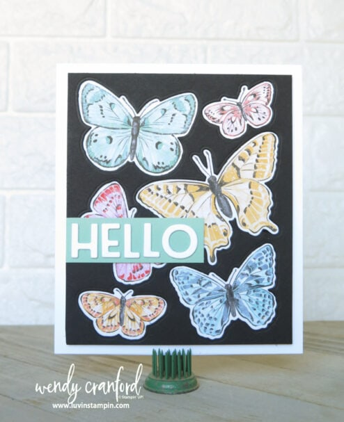 Super simple large card using Butterfly Brilliance Bundle