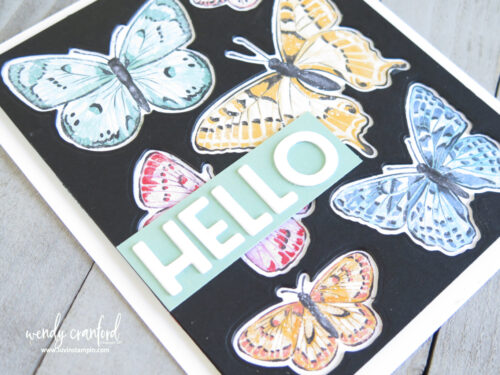 Butterfly Brilliance Bundle from Stampin'  UP! and inlay die cut technqiue.
