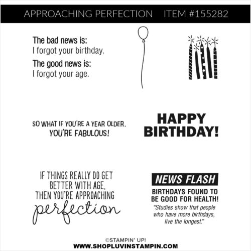 Approaching Perfection stamp set from Stampin' UP! free with $50 order