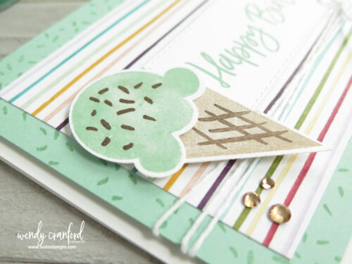 Simple ice cream punch art with the Stampin' UP! Sweet Ice Cream Bundle