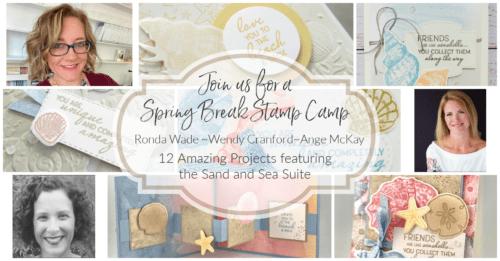 Spring Break Mega Stamp Camp featuring Friends Are Like Seashells bundle
