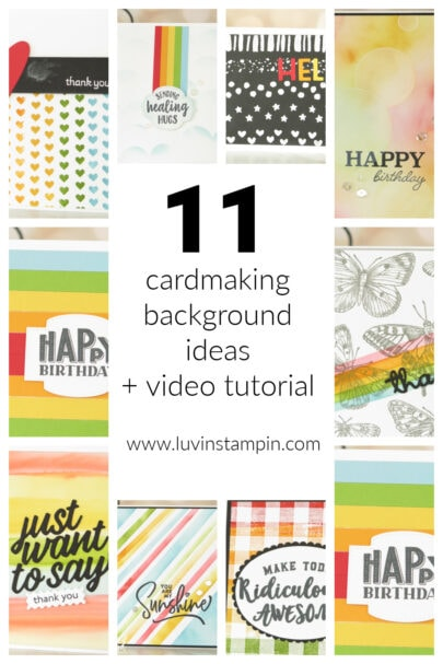 11 cardmaking background ideas you can use for your next card.