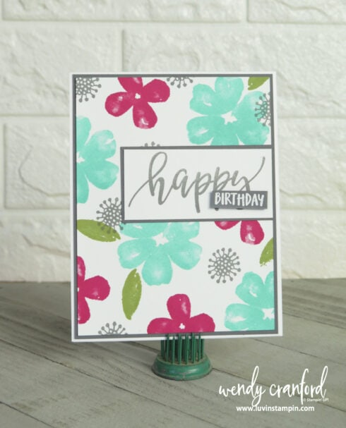 Pretty Perennials bundle from Stampin' UP! with Color Splash 36