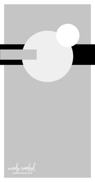 Slimline card sketch idea