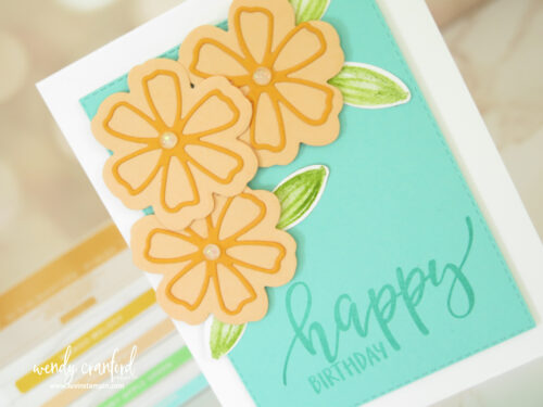Pretty Perennials super simple card
