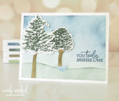 Simple ink blending technique with Stampin' UP! Blending Brushes