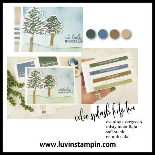 Color Splash 42   Cardmaking color combination to inspire creativity