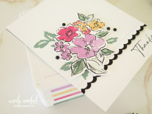 Simple Peek A Boo card using the brand new Hand-Penned Petals bundle from Stampin' UP!