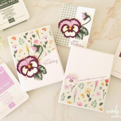 Paper Pansy's For Cards using Pansy Patch Bundle