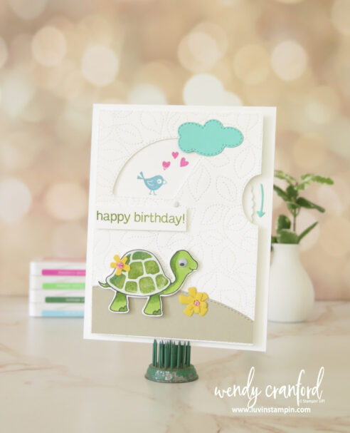 Give It A Whirl dies from Stampin' UP! using the Turtle Friends Bundle