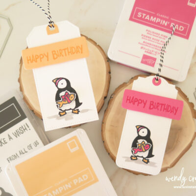 Stampin' UP! Party Puffins Birthday Gift Tags