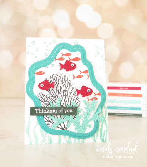 Seascape Bundle from Stampin' UP! and Diorama Dies