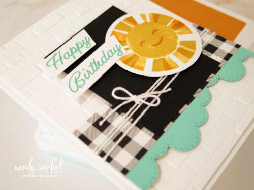 Fun and joyful card using Sharing Sunshine Stampin' UP! stamp set