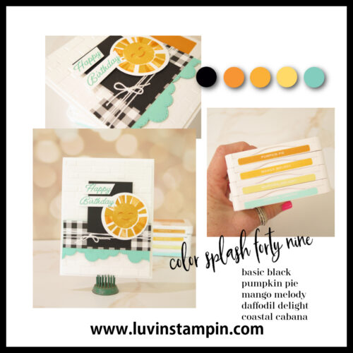 Fun summer color combination for cardmaking