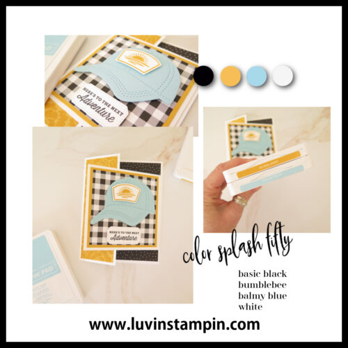 Fun Fold card using the Hats Off Bundle from Stampin' UP!