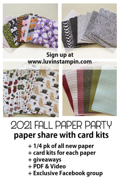 2021 Fall Paper Party with Wendy Cranford