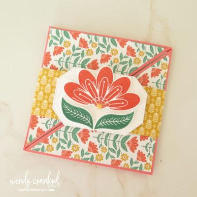 Square Diagonal Fold Card