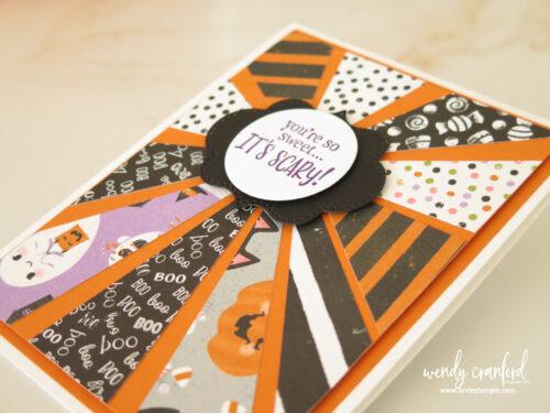 Starburst card featuring Cute Halloween designer series paper